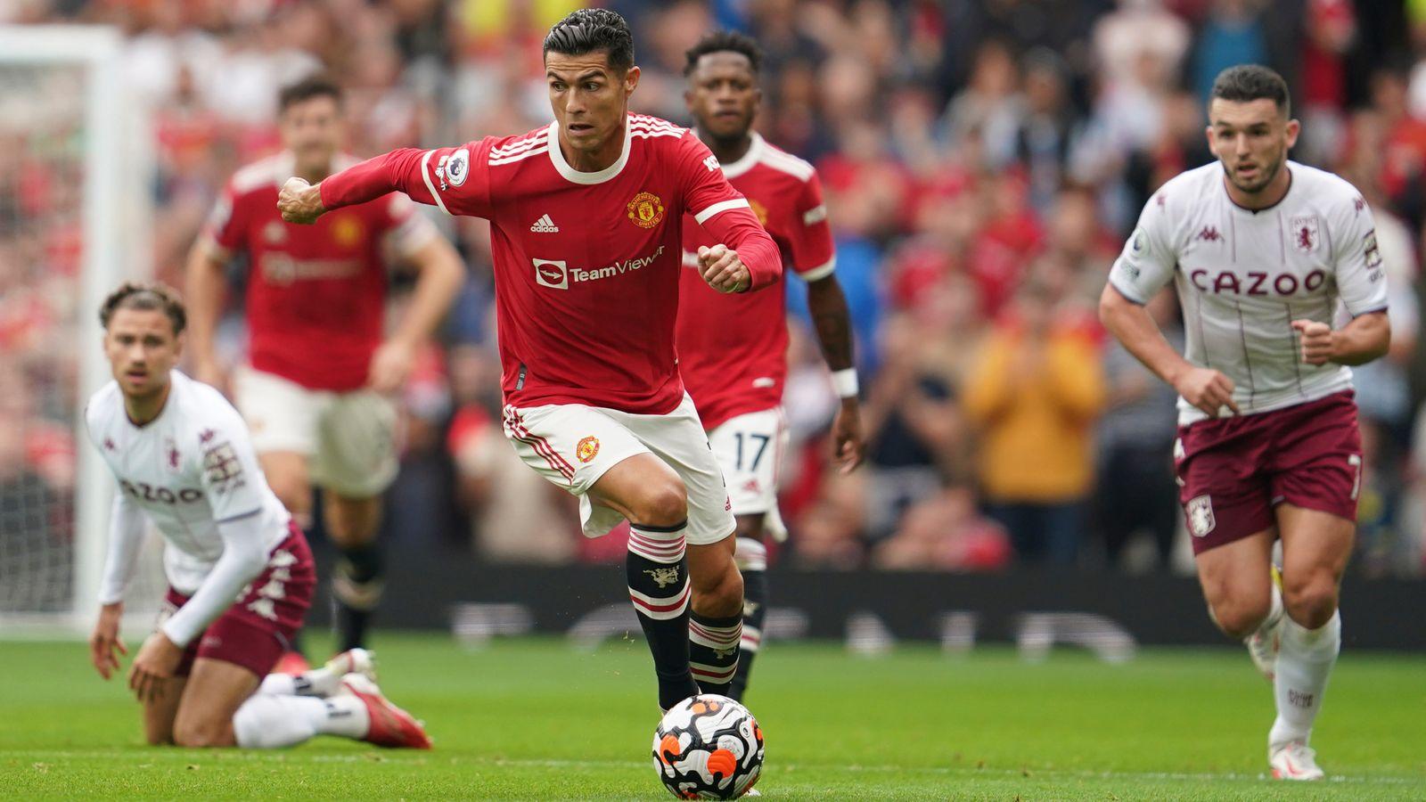 Bruno Fernandes misses late penalty as Kortney Hause header seals Villa win
